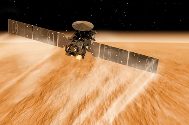 The spacecraft's large solar panels drag on the atmosphere, slowing ExoMars down. Credit: ESA/ATG medialab