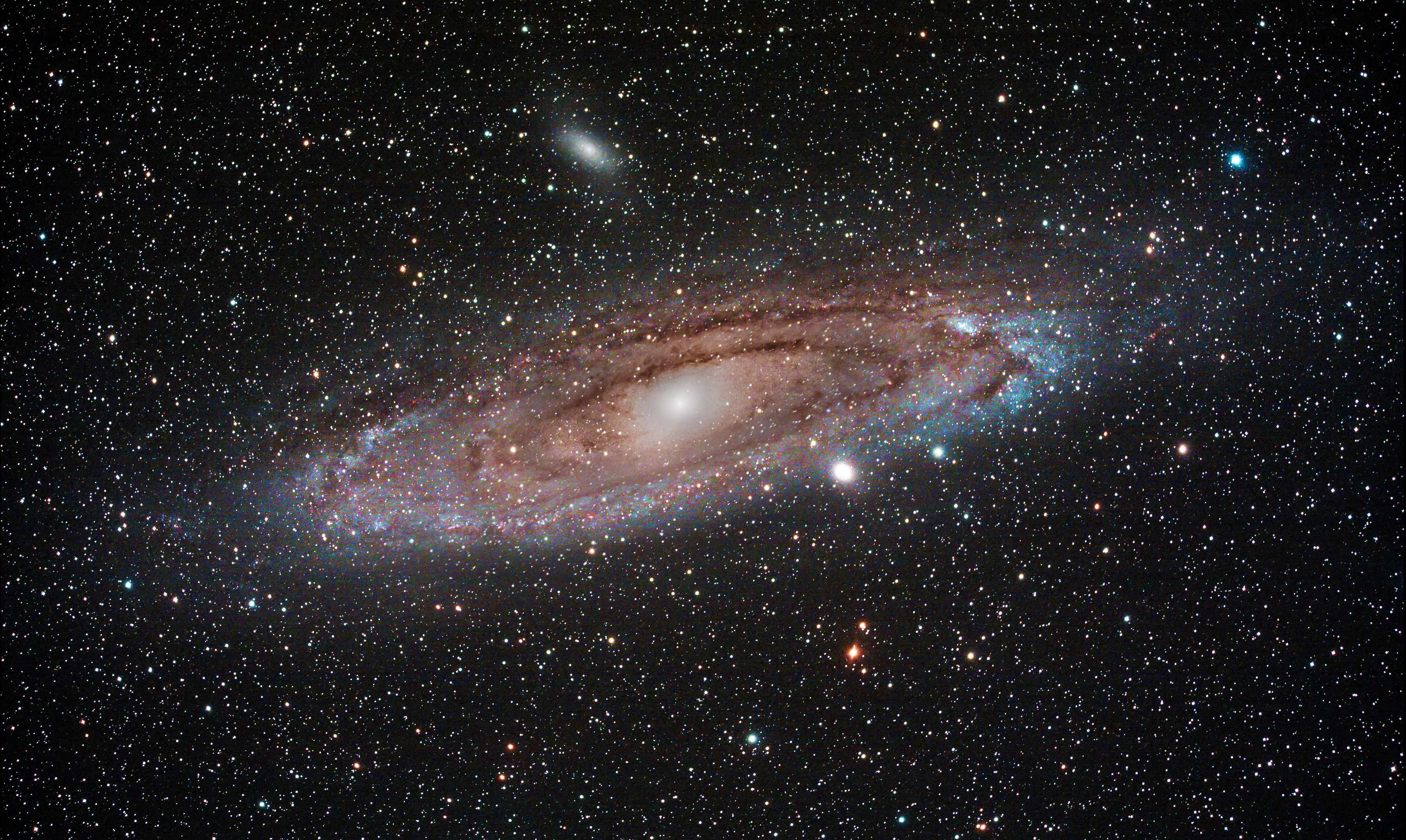 Andromeda Galaxy, Charles Thody, Pembrokeshire, 8 September 2015. Equipment: Modified Canon EOS 40D DSLR camera, Sky-Watcher Equinox-80 ED apo refractor, Sky-Watcher NEQ6 PRO SynScan mount.