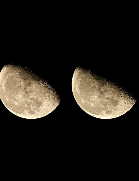 """Sarah and Simon Fisher, Worcestershire, 30 October 2016   Sarah says: """"My husband Simon and I were delighted to have consecutive clear nights in October to image our nearest natural neighbour. The seeing was outstanding, and with UK skies being so changeable (and cloudy) we were ecstatic to be able to have our telescope out four nights on the trot.""""  Equipment: Canon EOS 600D DSLR camera, 5-inch Maksutov-Cassegrain."""