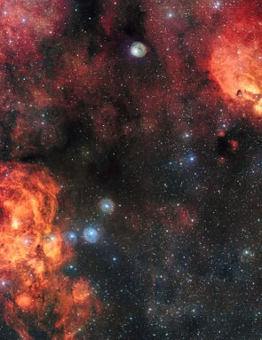 The Cat's Paw and Lobster Nebulae, ESO VLT Survey Telescope, 1 February 2017 (Credit: ESO)