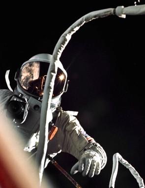 Gemini IXA pilot Eugene Cernan pictured during his two hour, eight minute spacewalk, 5 June 1966. (NASA/Tom Stafford)