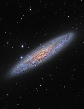Silver Dollar Galaxy, Ron Brecher and Brett Soames, New South Wales, Australia, October 2015/February 2016. Equipment used: SBIG STXL-6303E CCD camera, custom-built 6-inch refractor, Paramount ME mount, PixInsight.