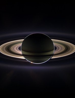 15th September 2006. Saturn sheltering Cassini from the blinding glare of the Sun, brightening microscopic particles and revealing previously unknown faint rings. (Credit: NASA/JPL/Space Science Institute)