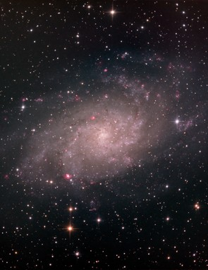 """Simon Todd, Haywards Heath, 28 November 2016  Simon says: """"I chose M33 as a target because I have always had challenges in the past when attempting to image it. It's not as bright as some of the other galaxies but there's a lot of detail in there; you just have to get a decent number of exposures.""""  Equipment: Atik 383L+ CCD camera, Sky-Watcher Quattro-8CF imaging Newtonian, Sky-Watcher EQ8 Pro SynScan mount"""