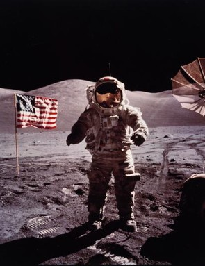 The 'last man on the Moon' Eugene Cernan takes part in an extra vehicular activity during Apollo 17, December 1972.