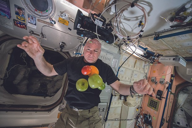 Waving for the camera on my third and final space walk. I enjoyed the challenge, but I was happy to have them done.