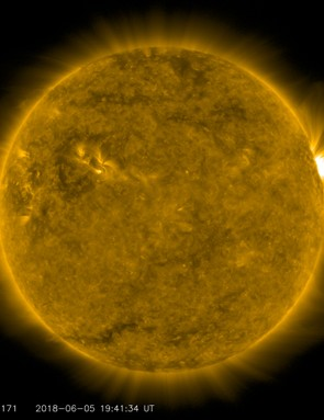 Coronal loops, NASA Solar Dynamic Observatory, 5 June 2018. Credit: Solar Dynamics Observatory, NASA.