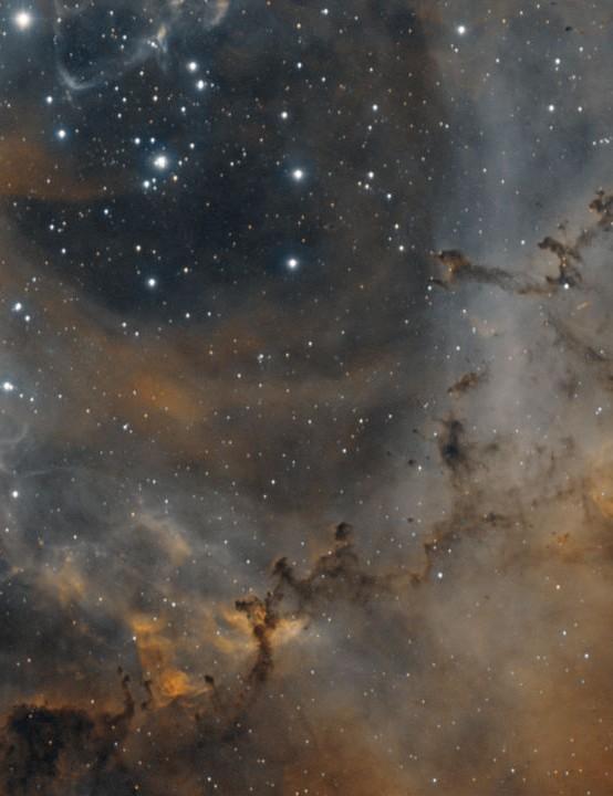 The Rosette Nebula Adam Leach, Kent, 25 February – 3 March 2019. Equipment: Atik 314L CCD camera, Altair Starwave 102ED refractor, Sky-Watcher HEQ5 Pro SynScan mount.