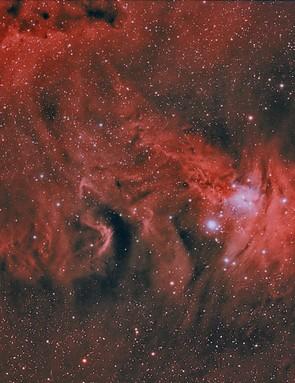 NGC 2264 Ian J Crichton, Dalgety Bay, 9 February 2018 Equipment: Canon EOS 70D DSLR camera, TS-Optics Imaging Star 130mm apo refractor, Sky-Watcher NEQ6 Pro SynScan mount.