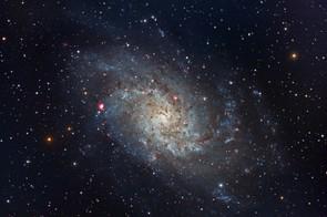 Triangulum Galaxy, Gary Opitz, Rochester NY, US, 6 October 2016. Equipment: ZWO ASI 1600MC cooled camera, Telescope Engineering Company APO140 ED refractor, Orion Atlas mount.