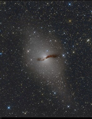 """Haim Huli, Namibia, 12 May 2017  Haim says: """"At the end of April I traveled for the first time to the southern hemisphere to an astro farm in Namibia. For the first three days after I arrived the sky was full of clouds. At the fourth night I 'wowed' when I finally saw the southern dark sky for the first time. My number one planned target was NGC5128, AKA the Centaurus A Galaxy.""""  Equipment: FLI MicroLine ML8300 mono CCD camera, ASA 12-inch astrograph, ASA DDM85 mount."""