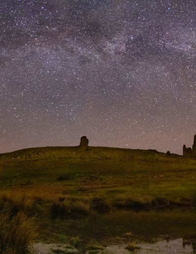 The Milky Way, Kevin Stewart, Dunstanburgh Castle, Northumberland, 8 March 2019. Equipment: Canon EOS 6D DSLR camera, Samyang 14mm f/2.4 lens, Manfrotto tripod.