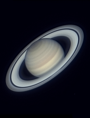 """Avani Soares, Canoas, Brazil, 3 June 2017  Avani says: """"Photographing Saturn and the main planets of the Solar System is one of my favorite hobbies. Although there is much to be said for observing Jupiter due to the dynamics of its atmosphere, Saturn is the planet that causes greater visual impact, both in direct observation and in a beautiful astrophoto.""""  Equipment: ZWO ASI224MC CMOS camera, Celestron EdgeHD 14 Schmidt-Cassegrain."""