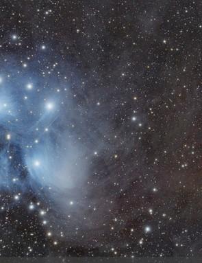The Pleiades  Mindaugas Kausylas, Kryliai, Lithuania, 1 December 2018  Equipment: Nikon 5300 DSLR camera, Explore ScientificFCD1 80mm triplet apo refractor, Sky-Watcher HEQ5 Pro SynScan mount.