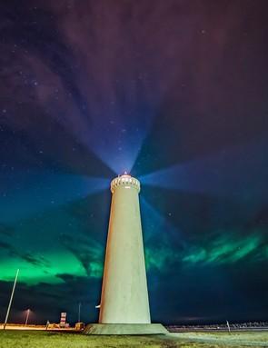 Mariusz Szymaszek, Garðskagi lighthouse, Iceland, 2 February 2016. Equipment: Sony A7S camera, Samyang 14mm lens.
