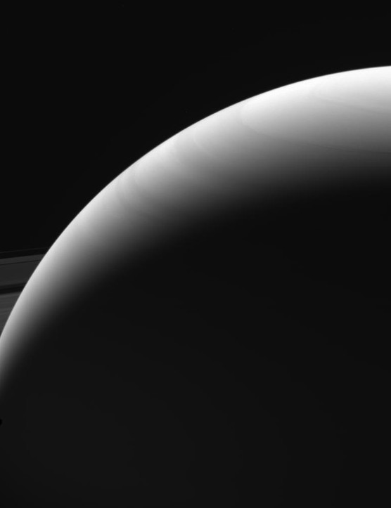 Shadows on Saturn, Cassini spacecraft, 13 September 2017 (Credit: NASA/JPL-Caltech/Space Science Institute)