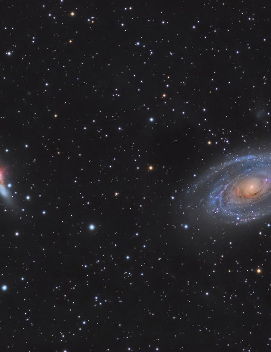 M81 & M82, Álvaro Ibáñez Pérez, Toledo, Spain, 25 May 2015. Equipment: Atik 460EX mono CCD camera, TS115 triplet apo refractor, NEQ Pro II tuning belts and EQMOD.