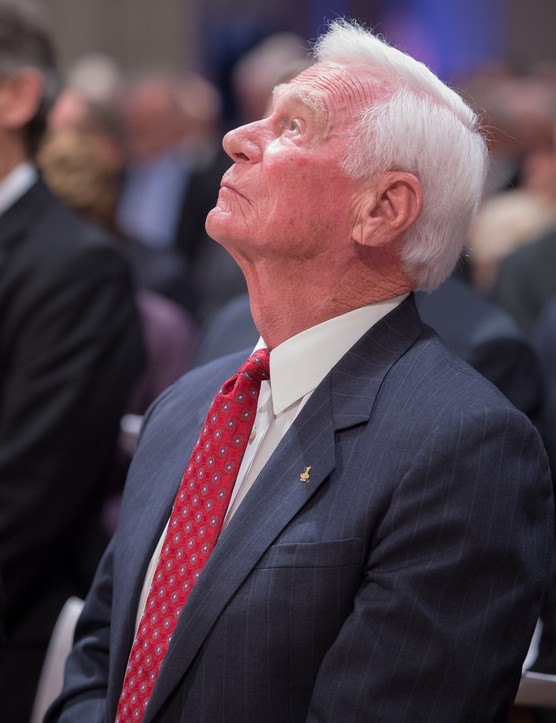 Eugene Cernan during a memorial service celebrating the life of Neil Armstrong at the Washington National Cathedral, 13 September 2012. (NASA/Bill Ingalls)