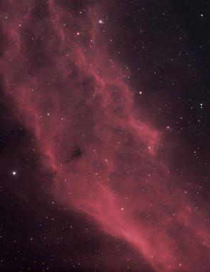 The California Nebula, Ruzeen Farsad, Kettering, 11-27 February 2019. Equipment: Canon EOS 450D DSLR camera, Sky-Watcher Evostar 80ED Pro refractor, Sky-Watcher HEQ5 Pro SynScan mount.