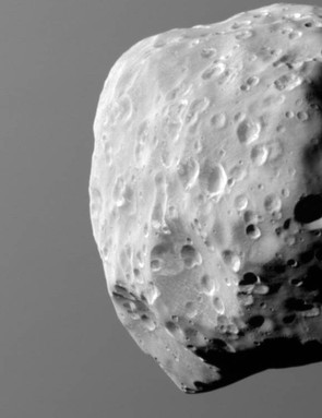 6th December 2015. One of Saturn's many small moons, Epimetheus has had its surface heavily pitted as a result of eons of bombardment. (Credit: NASA/JPL-Caltech/Space Science Institute)