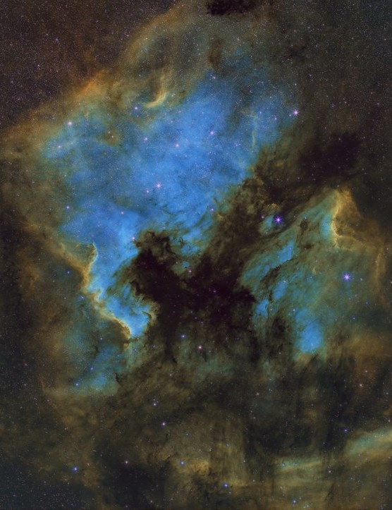 The North America Nebula Reza Hakimi, Moomej, Iran, 10, 11 July 2018 Equipment: ZWO ASI1600MM-C camera, Canon EF 200mm f/2.8 lens