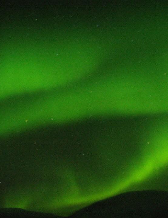 The Northern Lights, David von Janowski, north of Øksfjord, Norway, 9 February 2019. Equipment: Pentax K20D camera, Sigma DC 17-200 zoom lens.