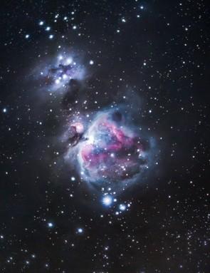 The Orion Nebula  Ben Brotherton, Buckinghamshire, 8 January 2019  Equipment: Canon EOS 7D MK II DSLR camera, Canon EF 70-200 lens, 1.4 III teleconverter, Sky-Watcher Star Adventurer mount.