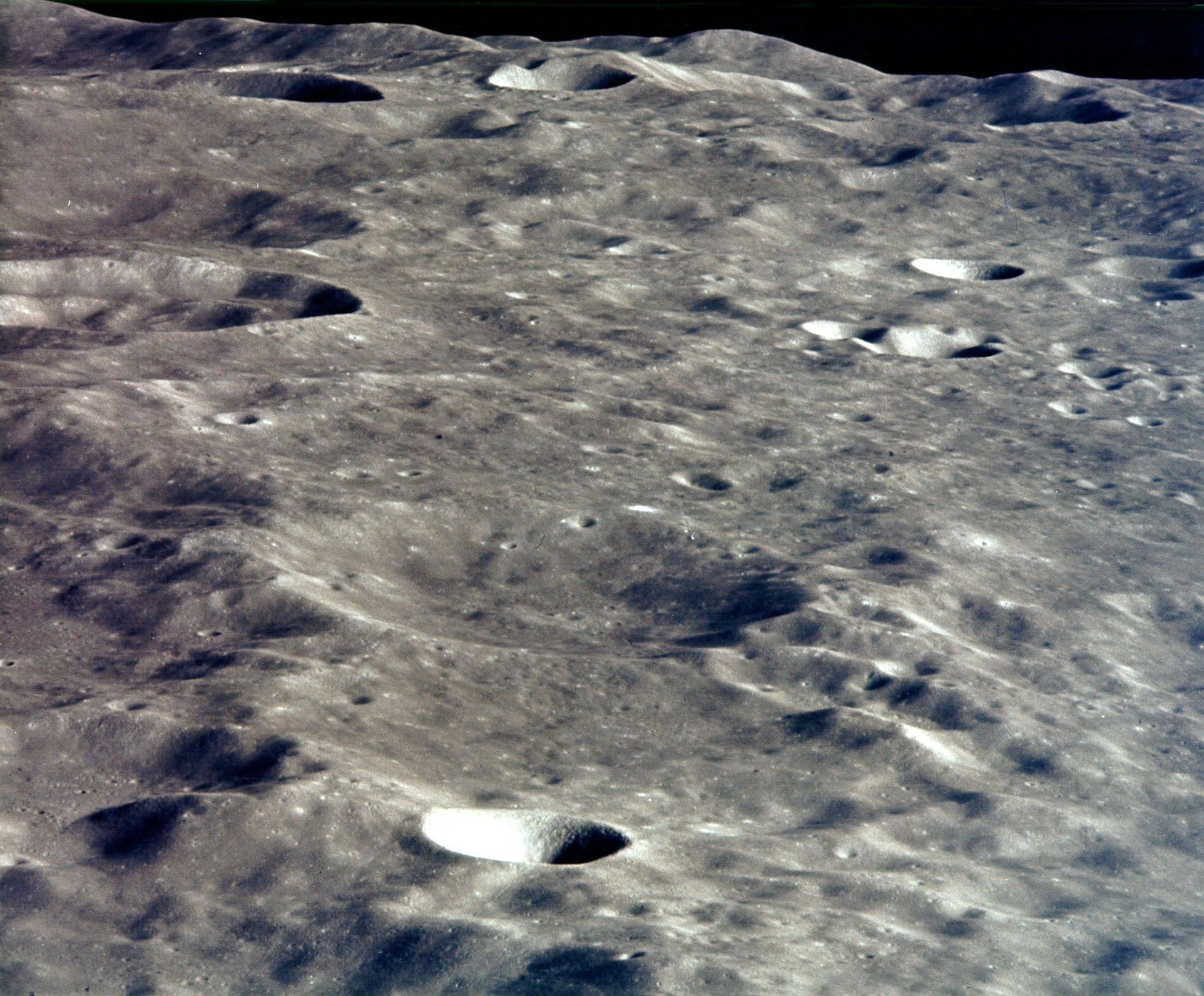The two modules 'Snoopy' and 'Charlie Brown' successfully redocked above the far side of the Moon. Credit: NASA
