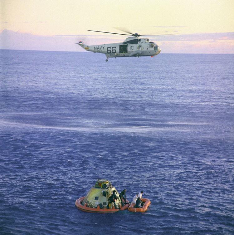 Making a splash: Apollo 10 returns to Earth on 26 May. Credit: NASA