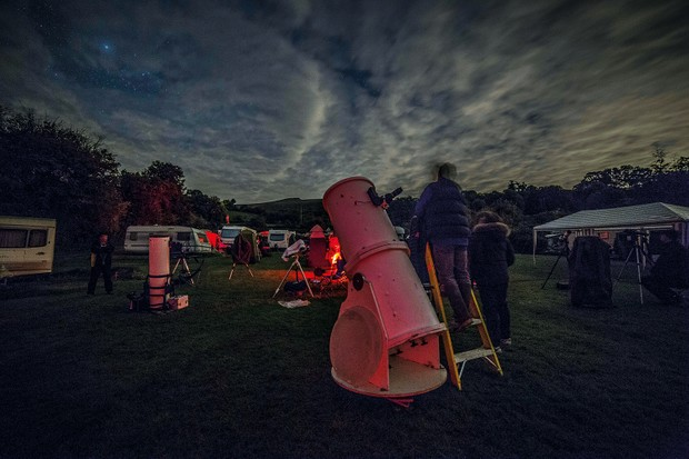 Astrocamp in the Brecon Beacons is an event run by passionate astronomers, located under some of the best dark skies in the UK Credit: Jamie Carter