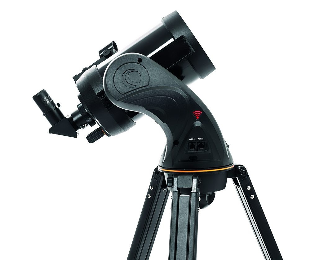The Celestron Astro Fi 5 Schmidt Cassegrain enables users to download an app and control the scope with their smartphone. Credit: BBC Sky at Night Magazine