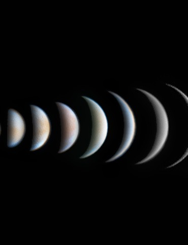 Venus Phase Evolution, by Roger Hutchinson (UK)    London, UK, 25 March 2017    Equipment: ZWO ASI174MM camera, Celestron C11 EdgeHD  Schmidt-Cassegrain, Celestron CGE Pro mount.
