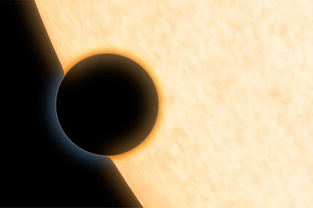 An artist's impression of an exoplanet orbiting its host star. A new technique is allowing astronomers so see exoplanets that are otherwise obscured by the bright light of their stars. Credit: NASA/JPL-Caltech