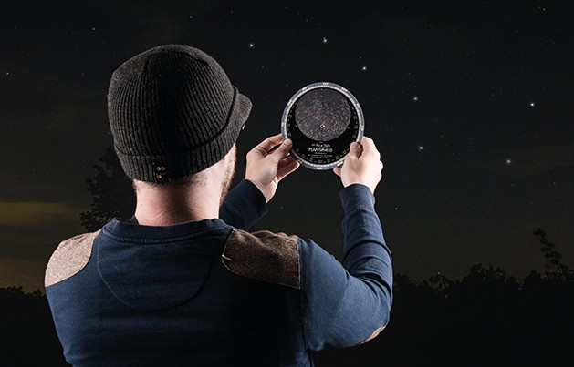 Planispheres: a battery-free guide to the night sky that won't wreck your night-adapted vision. Credit: BBC Sky at Night Magazine.