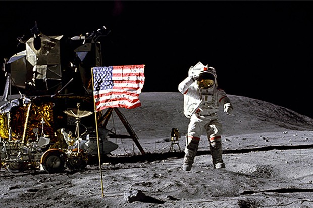 John Young pictured on the Moon during the Apollo 16 mission. Credit: NASA