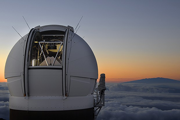 The Pan-STARRS 1 Observatory on Haleakala, Maui, Hawaii, just before sunrise. Has the telescope spotted the first known object to enter our Solar System from outside? Credit: Rob Ratkowski.
