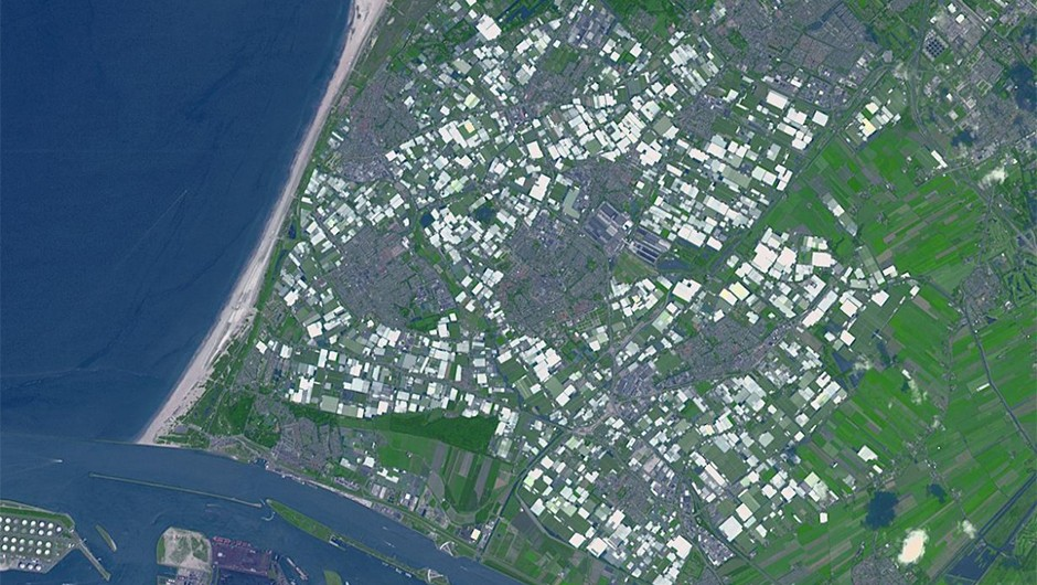 NASA's orbiting Advanced Spaceborne Thermal Emission and Reflection Radiometer (ASTER) gathers information for surface mapping and monitoring the effects of climate change. It captured this image of Westland in the Netherlands.Credit: NASA/METI/AIST/Japan Space Systems, and U.S./Japan ASTER Science Team