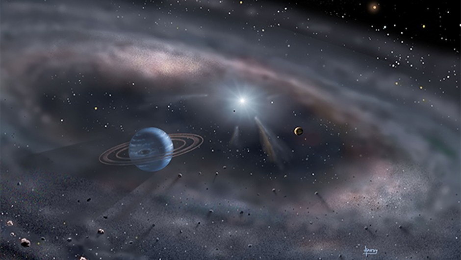 Artist's concept of planets forming around a young star Credit: David A. Hardy/www.astroart.org