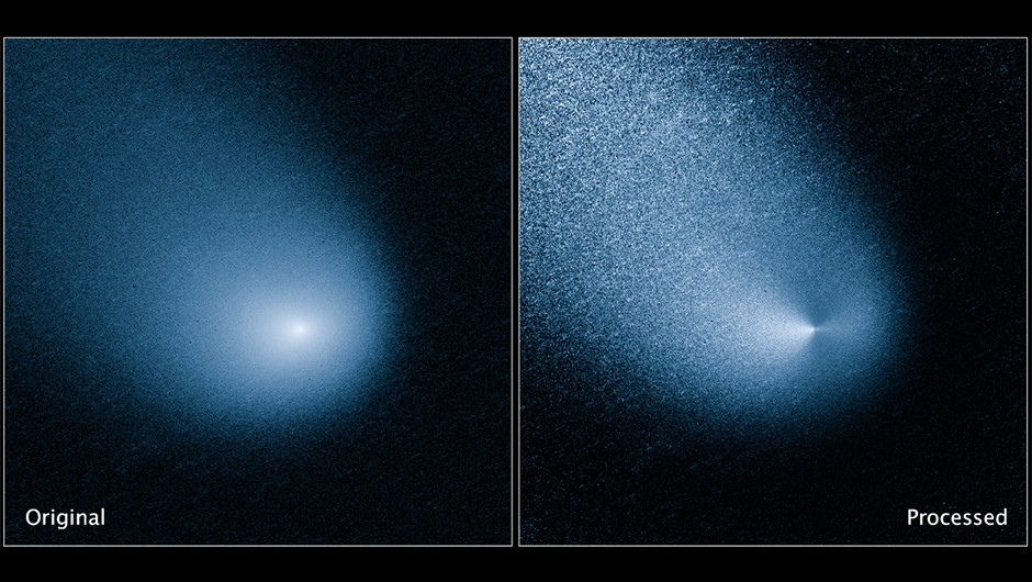 An image by the Hubble Space Telescope of Comet C/2013 A1 (Siding Spring), which made a close pass by Mars on 19 october 2015.Credit: NASA, ESA, and J.-Y. Li (Planetary Science Institute)