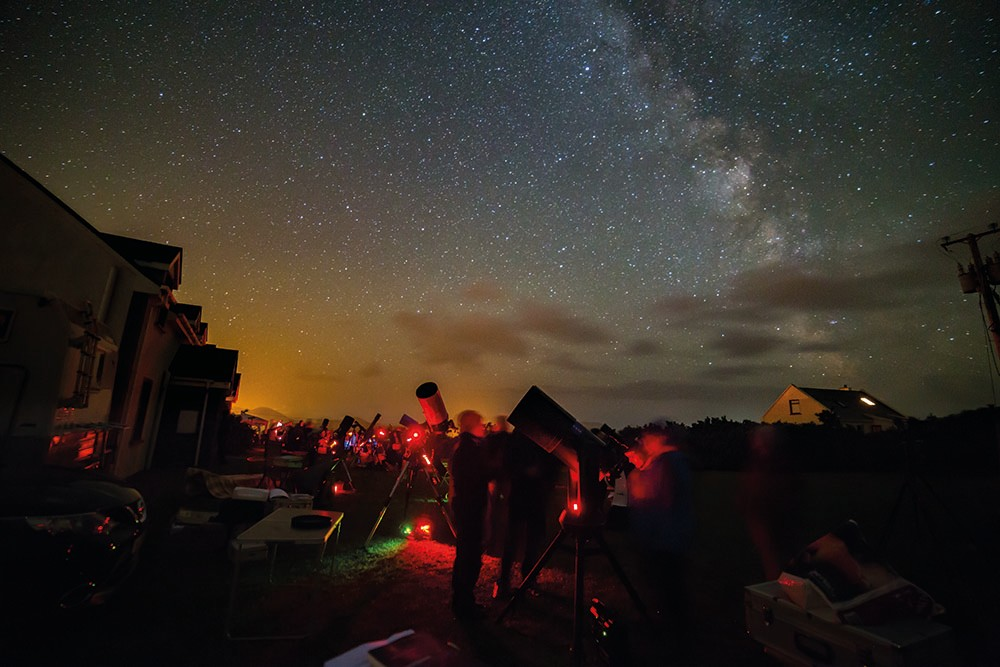Skellig Star Party is an annual astronomy event held in the southwest of Ireland, in one of the darkest regions in Europe. Credit: Dave Connolly
