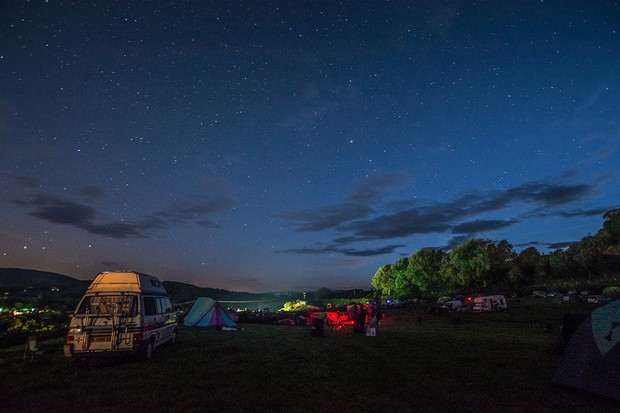 Solarsphere is one of the UK's best known star parties, and takes place annually in August in the beautiful Welsh countryside. Credit: Pete Williamson