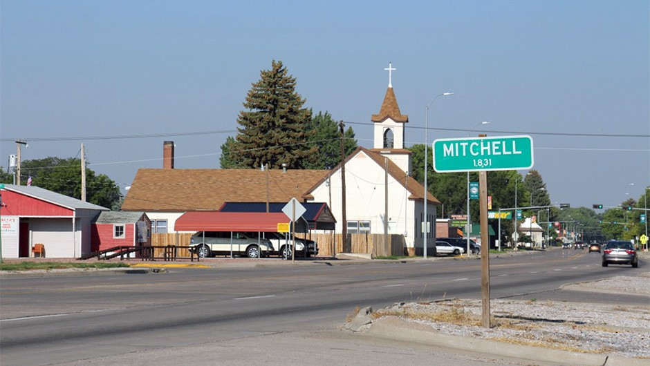 Mitchell, Nebraska: site of the climax of Ezzy's eclipse trip across the US. The small town was mostly expecting visitors who were hoping to avoid the crowds farther north.Credit: Elizabeth Pearson