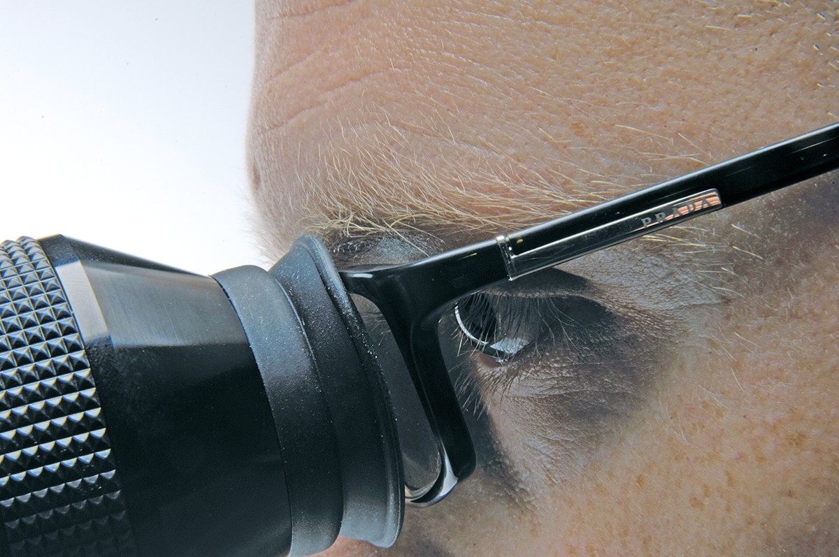 The view through a scope will usually compensate for any sight issues that normally require spectacles.