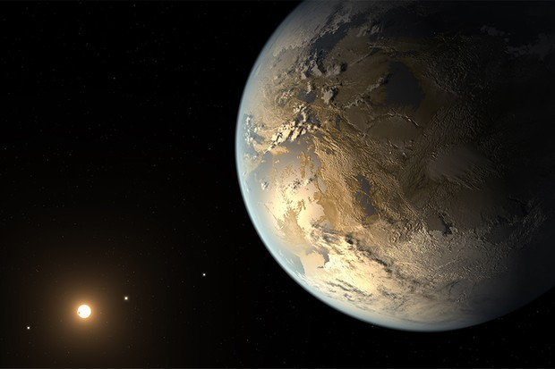 An artist's illustration of Kepler-186f. Researchers believe this exoplanet's tilt has given it a stable climate. Credit: NASA Ames/JPL-Caltech/T. Pyle