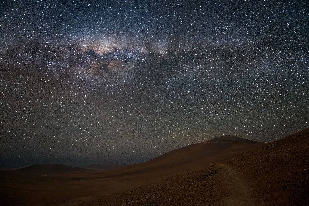 Milky Way above the Chilean Atacama Desert. It is here, that ESO'c Very Large Telescope (VLT) is located