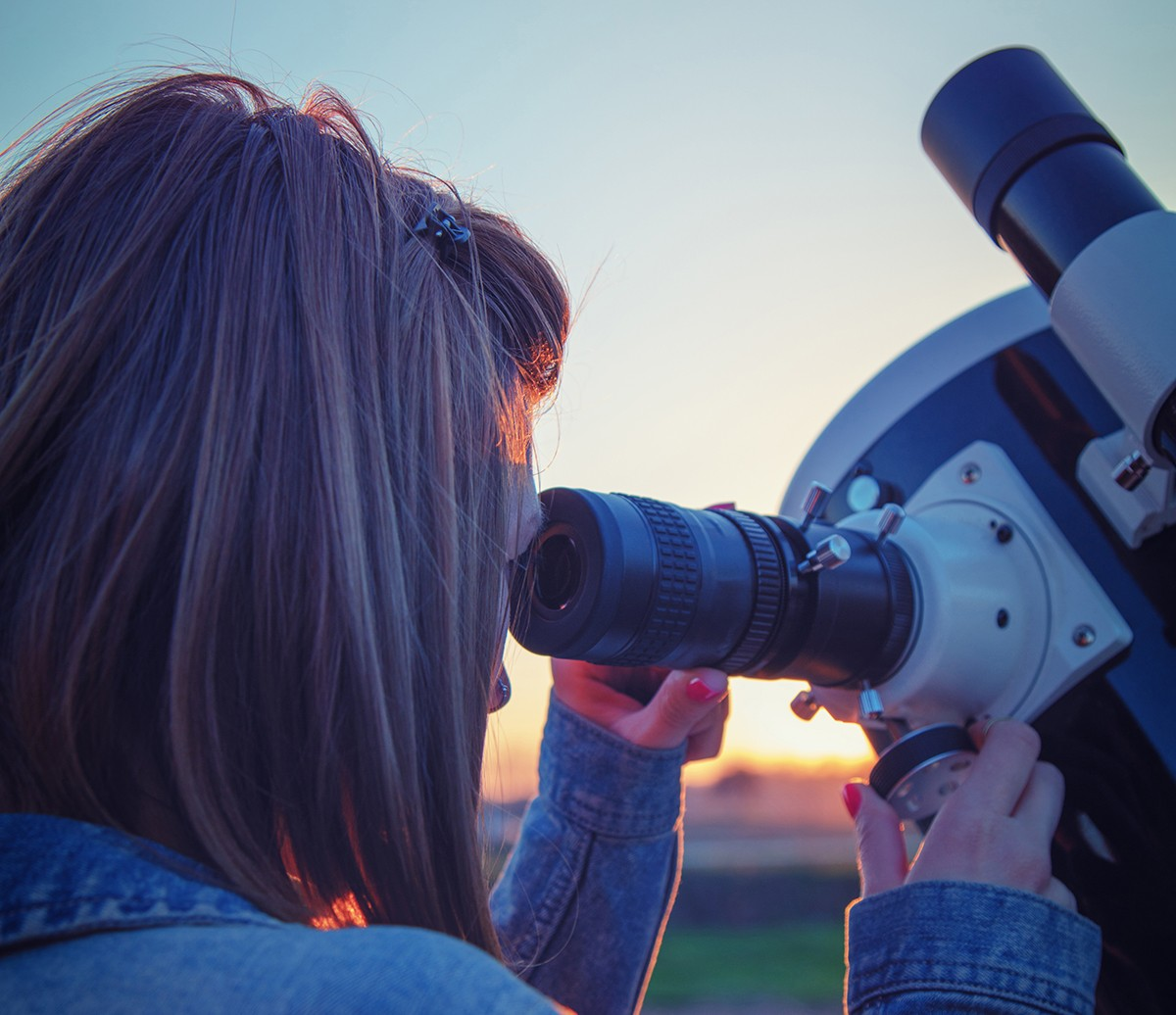 > Practise setting up your scope while it's still light, and always try to observe across a clear horizon. Credit: m-gucci/iStock / Getty images