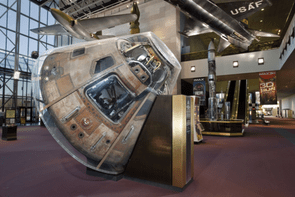 Columbia on display in the Boeing Milestones of Flight Hall: When it comes to major Apollo 11 hardware, Columbia is all that's left. It was here that Michael Collins worried about whether Armstrong and Aldrin would return, and the vehicle that the three pioneers splashed-down into the Pacific Ocean on 24 July, 1969. Columbia is now on display in the National Air and Space Museum in Washington, DC. © Eric Long/National Air and Space Museum/Smithsonian Institution