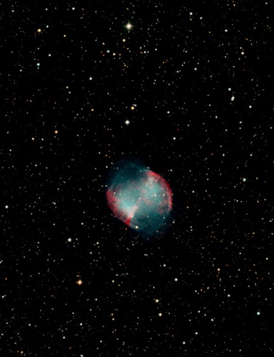 The Dumbbell Nebula captured by Brant Cambridge, California, US. Equipment: FLI PL09000 mono CCD camera, PlaneWave 24-inch astrograph, PlaneWave Ascension 200HR mount.