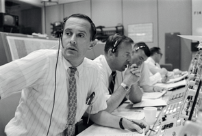 Charles Duke as CAPCOM for Apollo 11 at NASA's Mission Control: CAPCOM Charles Duke's conversations with Apollo 11 will go down in history, and so will Mission Control in Houston, Texas. Mission Operations Control Room 2, where the immortal words