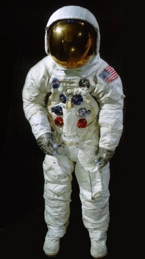 Buzz Aldrin's EVA (extra-vehicular activity) spacesuit: The suit is part of the National Air and Space Museum's awesome Apollo To The Moon exhibition, though Neil Armstrong's needs conservation work before it can be displayed again. In the Armstrong Air & Space Museum in Wapakoneta, Ohio, and you can see the spacesuit that Armstrong wore inside Columbia and Eagle, as well as Gemini 8. © National Air and Space Museum/Smithsonian Institution